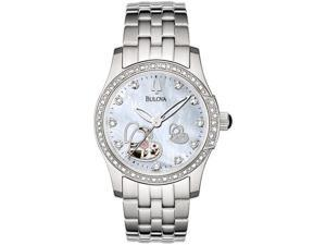 Bulova Diamond Accent Ladies Auto SS