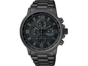 Citizen CA0295-58E Black Stainless Steel NightHawk Eco-Drive Chronograph Black Dial