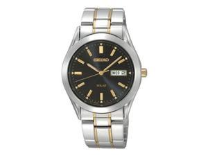 Seiko Solar Black Dial Mens Watch SNE047