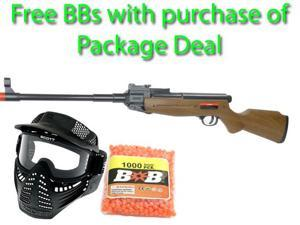 Spring Breach Loading Hunter Style FPS-180 Airsoft Rifle Package Deal (Mask and Free BBs)