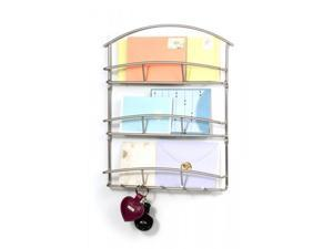 Wall Mounted  Letter Holder - Three Tiers - by Spectrum