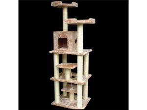 "78"" Casita Bungalow Cat Tree - Faux Fur - by Majestic Pet"