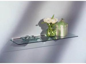 Rectangular Glass Shelf Kit 8x24 - Wall Mounted