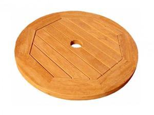 "Royal Tahiti 20"" Round Lazy Susan w/umbrella Hole - by International Caravan"