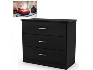 Libra Black 3 Drawer Chest - by South Shore