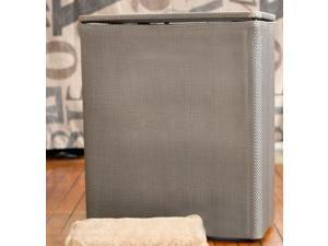 1530 Lamont Home Upright Hamper in Silver Basketweave - by LaMont