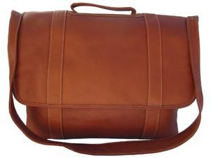 Traditional Leather Flap Portfolio - Saddle - by Piel Leather