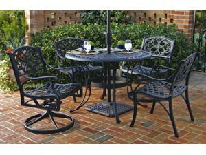 """5-Pc Black Dining Set - 42"""" Table and 4 Swivel Chairs - by Home Styles"""