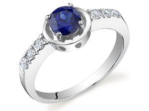 Sleek and Classy 0.75 carats Sapphire Ring in Sterling Silver Size 6