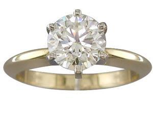 EGL CERTIFIED I COLOR SI1 CLARITY 1.51 CARAT DIAMOND SOLITAIRE RING