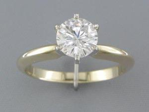 EGL CERTIFIED E/SI2 1.04CT DIAMOND SOLITAIRE RING
