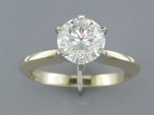 EGL CERTIFIED G/SI3 1.68CT DIAMOND SOLITAIRE RING