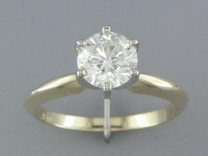 IDEAL CUT EGL CERTIFIED H/SI2 1.19CT DIAMOND SOLITAIRE RING