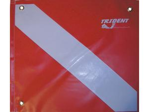 Trident 14in x 16in Vinyl Dive Flag with Brace