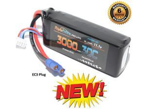 Powerhobby 3S 11.1V 3000mAh 30C Lipo Battery Pack w EC3 Connector