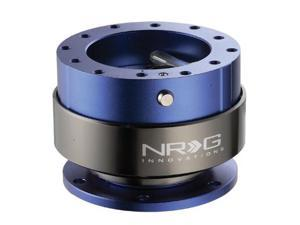 NRG Quick Release  Gen 2.0- Srk-200BL (BLUE Body w/ Titanium Chrome Ring) NRG Innovations Steering Wheel Quick Release Unit ...