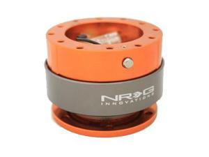 NRG Quick Release Gen 2.0- Srk-200OR  (ORANGE Body w/ Titanium Chrome Ring) NRG Innovations Steering Wheel Quick Release ...