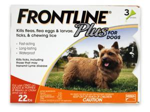 Frontline Plus for Dogs up to 22 lbs 3pk