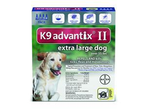 K9 Advantix II Dogs Over 55 lbs 4 Pack (4 Month Supply)