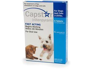 Novartis CAP-SM Capstar Flea Treatment for Dogs and Cats 2-25 lbs 6pk