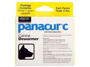 Panacur-C (fenbendazole) Canine Dewormer 1 gram (3 packets)