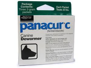 Panacur-C (fenbendazole) Canine Dewormer 2 gram (3 packets)