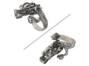 Dragon Finger Ring with Clear Jewels for Eyes