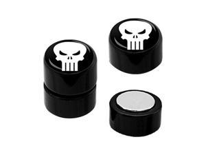 Pair of White Classic X-Men Logo Cheater Plugs Earrings