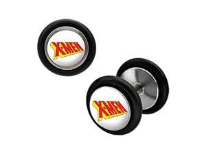 Classic 90's X-Men Logo Cheater Plug Earrings