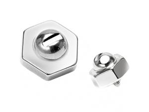 8mm Hexagonal Screw Steel Dermal Anchor Charm Replacement Ball - 14G