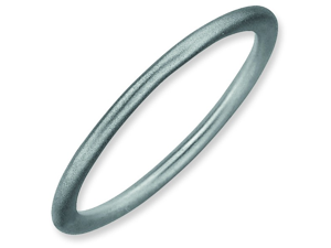 Size 8 - 1.5mm Satin Thin Plain Band Sterling Silver Stackable Ring