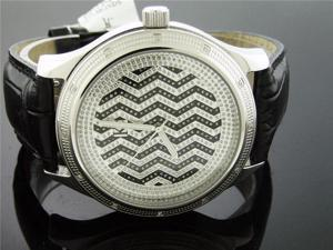 Techno Com by KC 47 MM 0.15CT Diamond Watch Silver Face