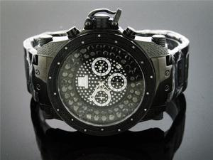 Techno Master 0.25CT Diamonds 50MM Black Watch TM-2115