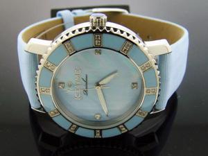 Ladies Icetime 36mm Round 0.40CT Diamond Blue watch
