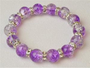 NEW MURANO PURPLE ICE 7 INCH SWAROVSKI BRACELET