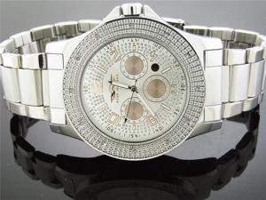 King Master 0.12CT Diamond Watch Silve Face Metal Band