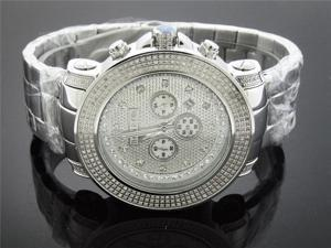 New Don & Co 3.00CT Diamond 50MM Stainless steel Watch