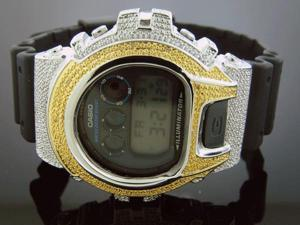 Men's Casio G Shock 0.15CT Diamonds Two Tone Watch 6900