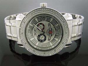 King Master 12 Diamond Watch with Silve Face Metal Band