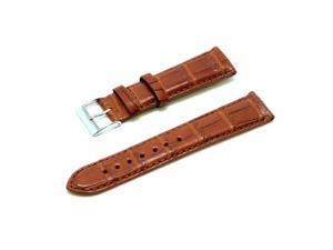 Genuine Alligator Leather Watch Band - Honey Brown 20mm