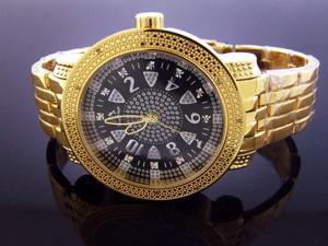 New Techno Master 12 Diamonds TM-2132 Yellow Gold Watch
