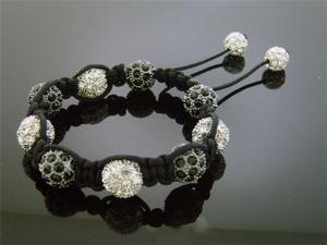 Big Black Bead CZ  Bracelet 12MM With Disco Ball
