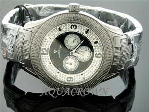 Men's Justbling Stainless Steel 0.20CT Diamonds Watch