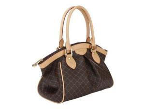 Rioni Signature (Brown) - Ruched Satchel ST-20253
