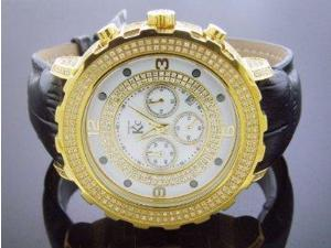 Techno Com By Kc Full Case Diamonds 52mm White Face Watch