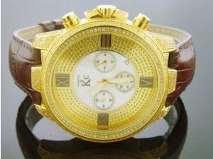 Techno Com By Kc Full Case Diamonds 47mm White Face Watch