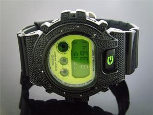 Men's Casio G Shock 0.12ct Diamond Watch 6900 Black Case
