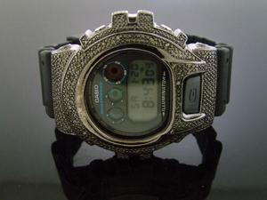 Casio G Shock 0.25CT Diamond Black Face Watch 6900