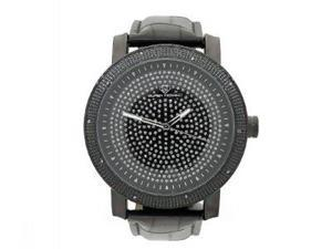 Men's Super Techno by Joe Rodeo 0.10CT Diamonds Watch M6004 Black Face & Case