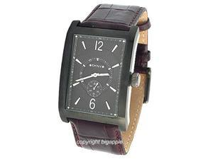 Dkny Gun Metal Case Brown Leather Band Mens Watch NY1352